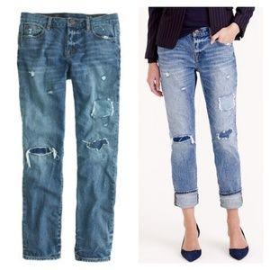 J Crew Broken-In Boyfriend Jeans in Harbor Wash